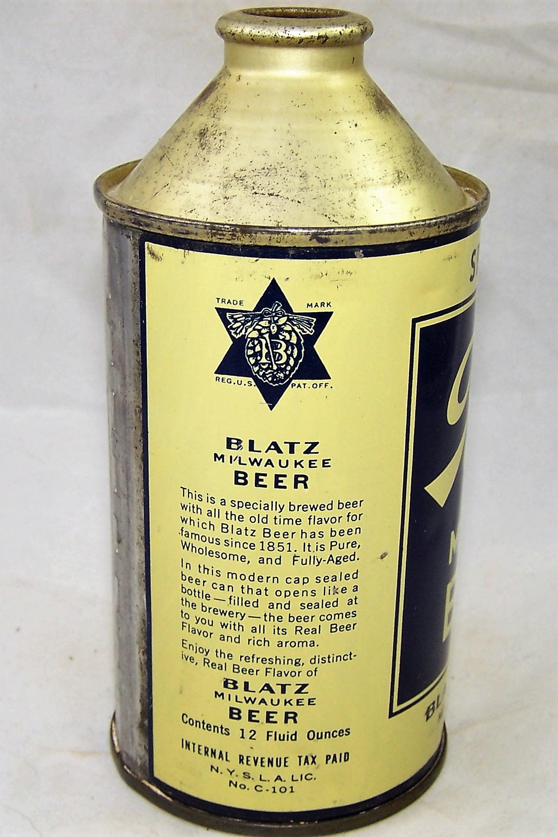 Blatz Milwaukee Beer, USBC 153-14, Grade 1/1+ Sold on 02/08/19