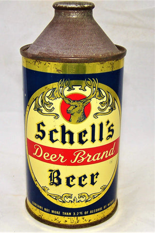 Schell's Deer Brand Beer ( CNMT 3.2%) USBC 183-07, Grade 1  Sold on 02/11/19