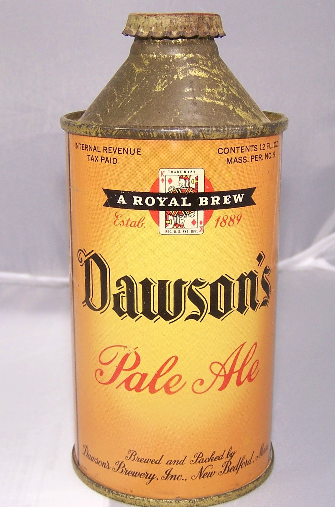 Dawson's Pale Ale, USBC 158-30, Grade 1. Sold on 08/05/18