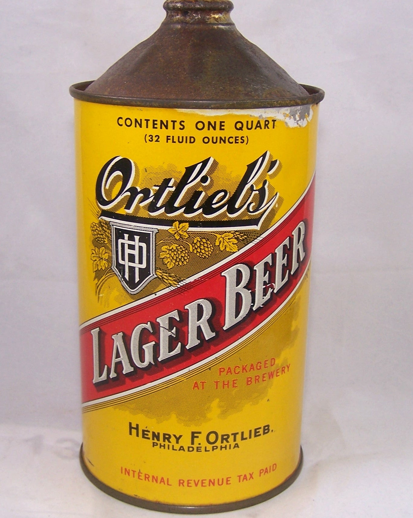 Ortlieb's Lager Beer, USBC 216-13, Grade 1/1- Sold on 09/21/16
