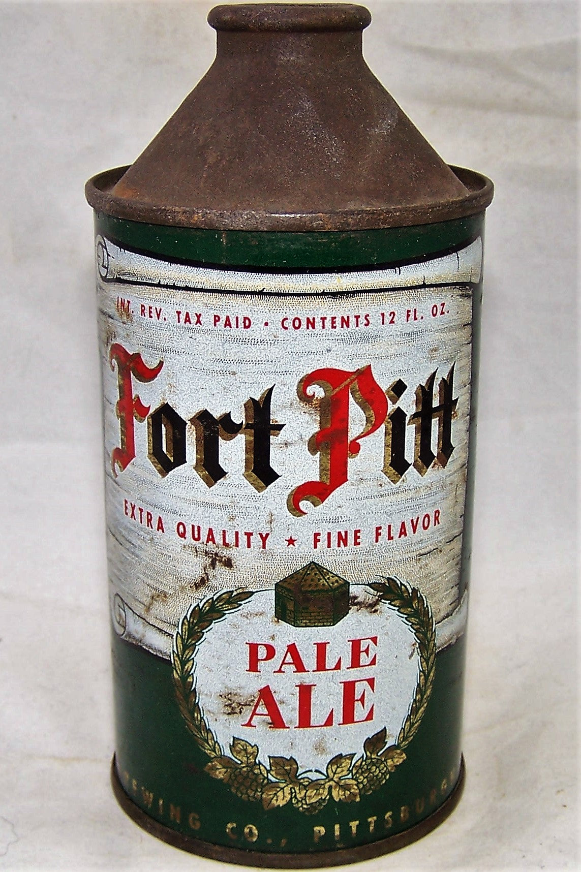 Fort Pitt Ale, IRTP, USBC 163-07, Grade 1-  Sold on 02/13/19