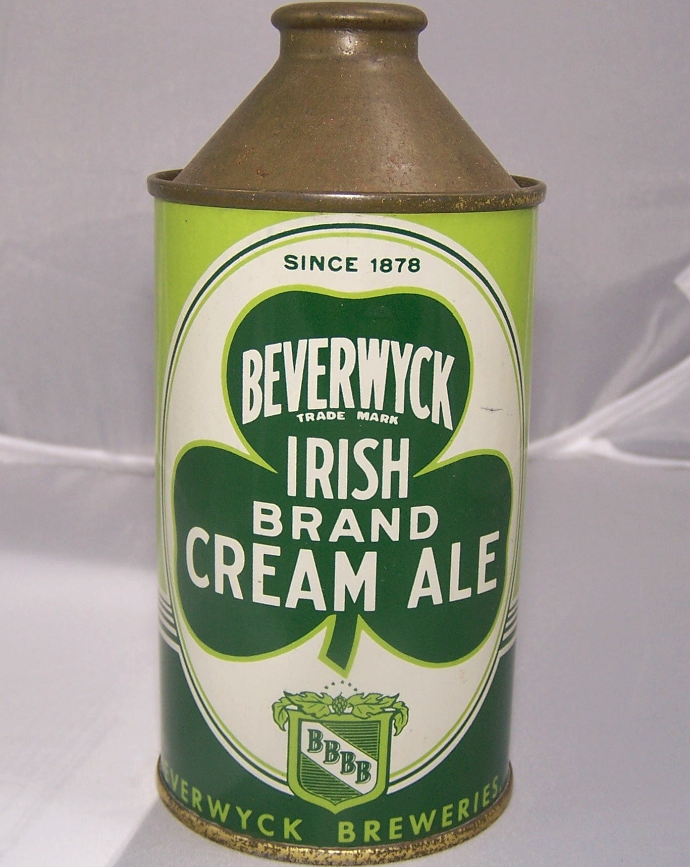 Beverwyck Irish Brand Cream Ale, USBC 152-6, Grade 1/1+ Sold on 2/28/15