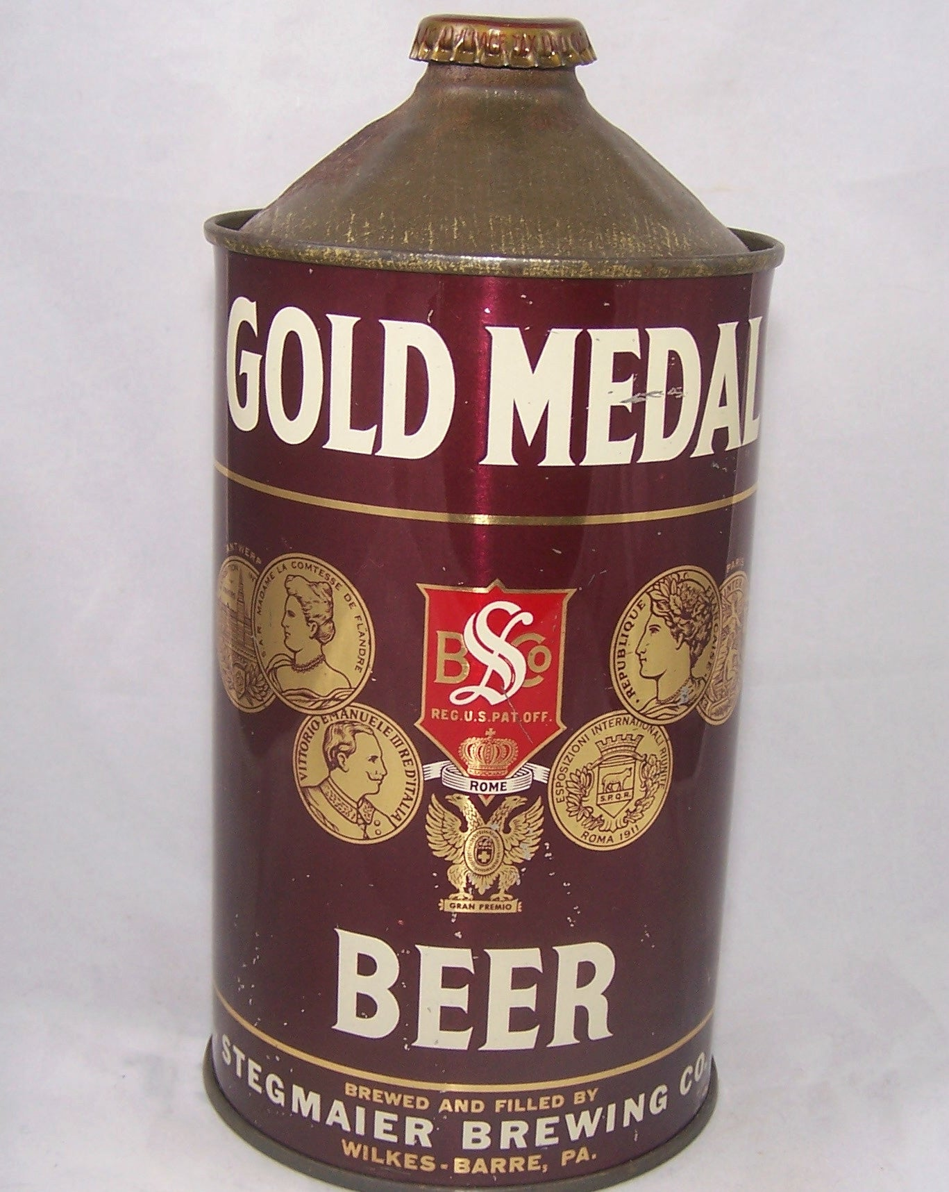 Gold Medal Beer (Red Shield) USBC 210-06, Grade  1/1- Sold on 10/02/16
