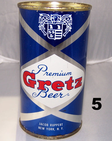 Gretz Beer, USBC 74-33, Grade 1/1- Sold on 2/15/15