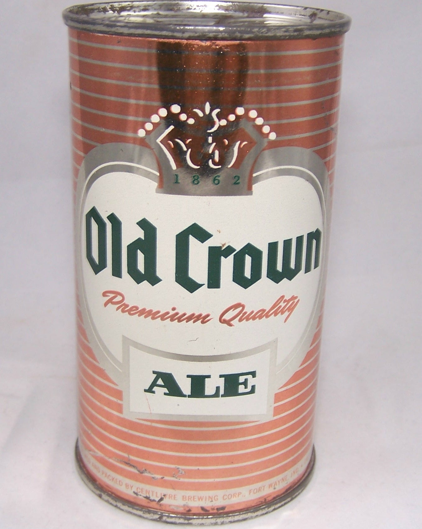 Old Crown Ale set can (Orange) USBC 105-12, Grade 1 to 1/1+ SOLD ON 09/23/16