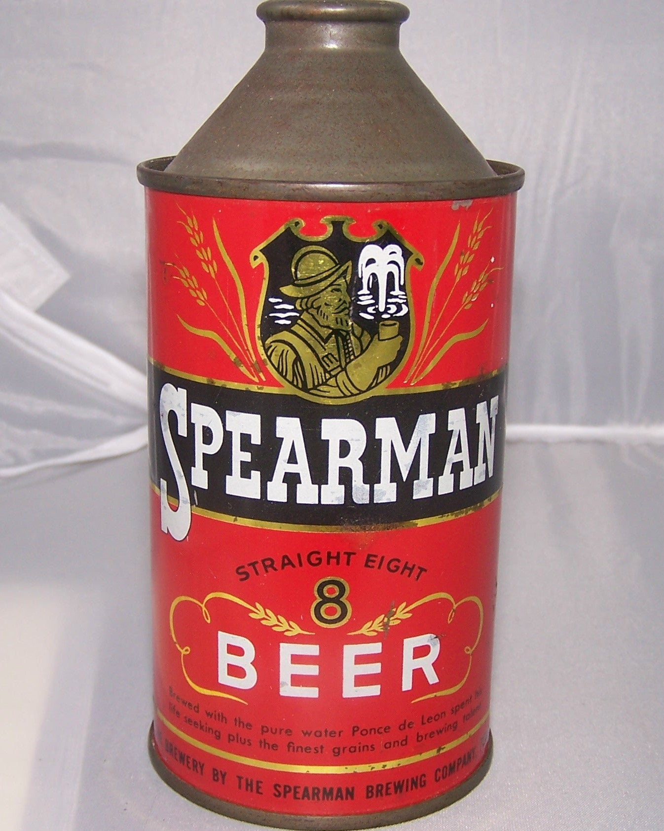 Spearman Straight 8 Beer, USBC 185-29, Grade 1/1-sold 9/21/15