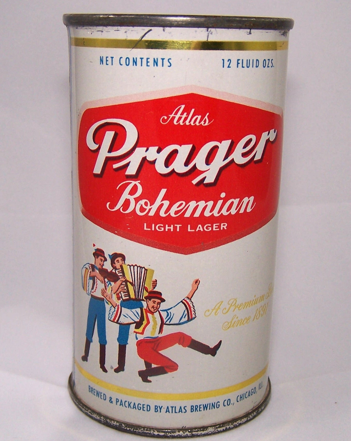 Atlas Prager Bohemian Light Lager, (Gold Trim) USBC 32-26, Grade 1/1- Sold on 2/18/15