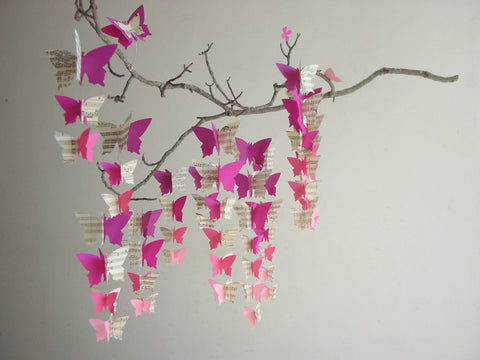 Butterfly Mobile - Pink Ombre