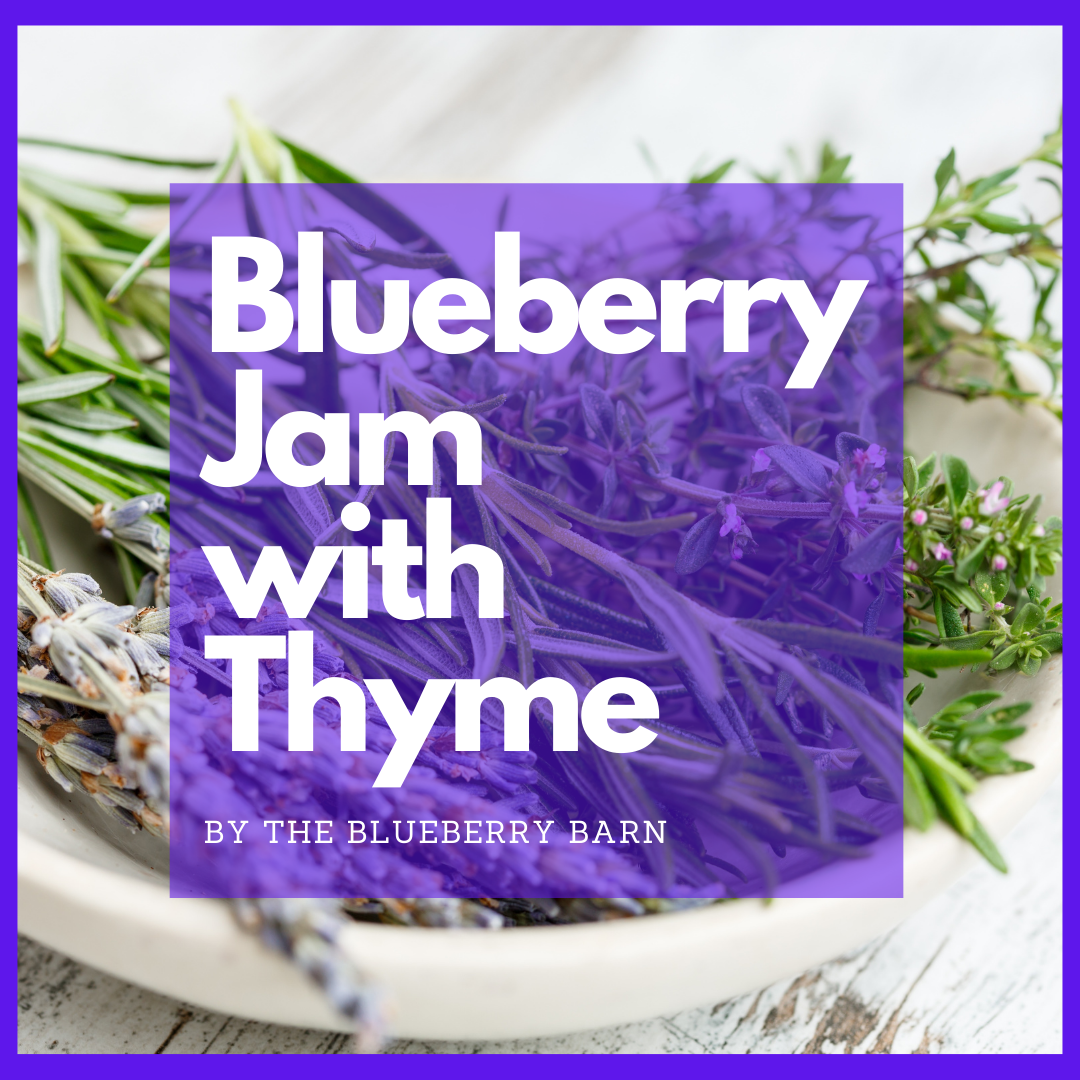 how to make blueberry jam with thyme and lime