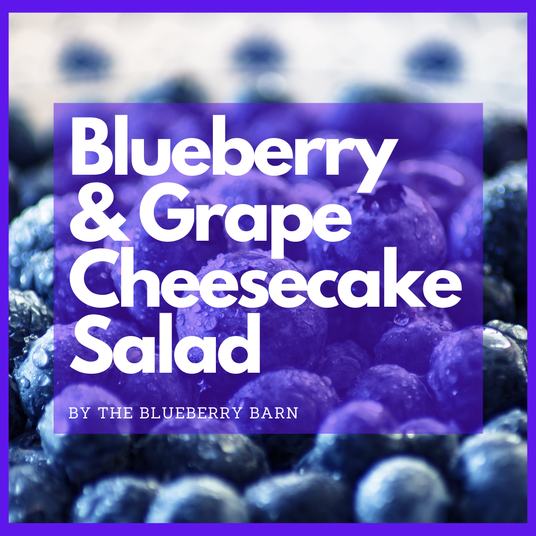 recipe for blueberry & grape cheesecake salad