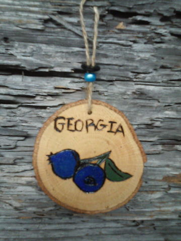 Wooden Blueberry Ornaments