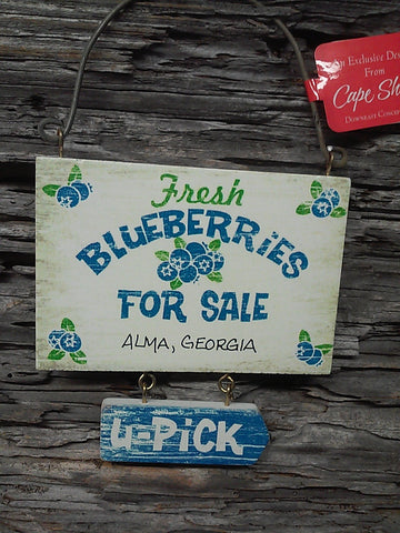 Blueberry Wooden Hanging Ornament