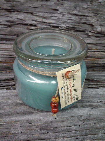 Blueberry Muffin blue jar candles