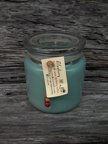 Blueberry Muffin large blue jar candles