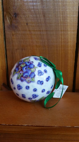 Cape Shore Blueberry Ball Ornament