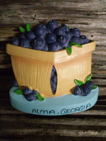 Blueberry Basket Magnet