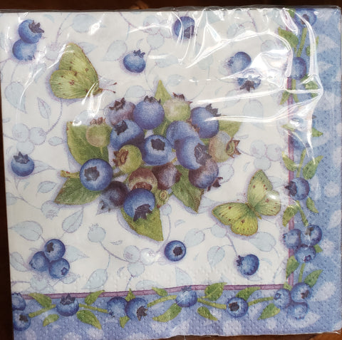 Blueberry Beverage Napkins