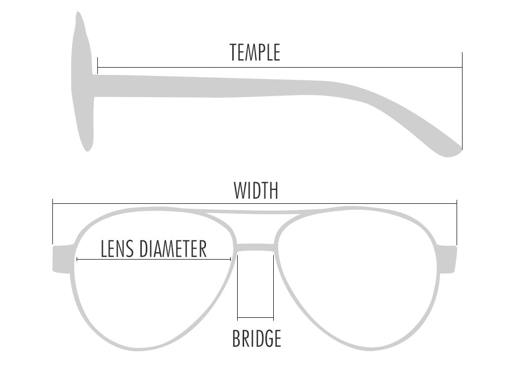 Vanacci sunglasses size guide