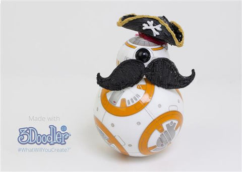 BB-8 Moustache & Pirate Hat
