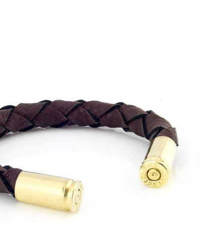 Brown Leather Cuff Bracelet