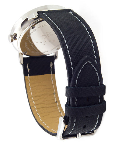 Vanacci Mens Carbon fiber Watch strap