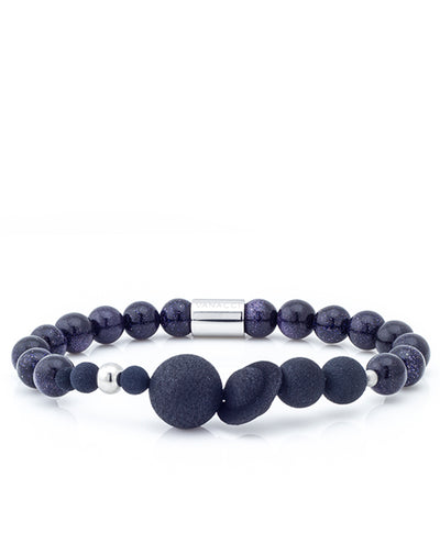 Mens Vanacci Lockstone Solar system Perfume Bracelet with sparkling beads and pluto