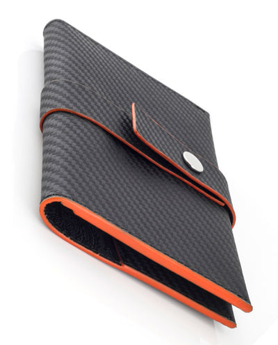 Vanacci travel wallet showing orange edges
