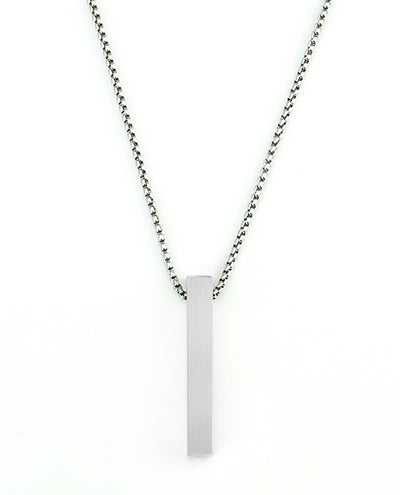 Vanacci mens element pendant in Aluminium on a stainless steel chain