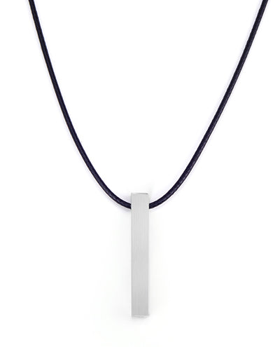 Vanacci mens element pendant in Iron on a Black necklace