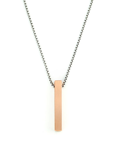 Vanacci mens element pendant in Copper on a stainless steel chain