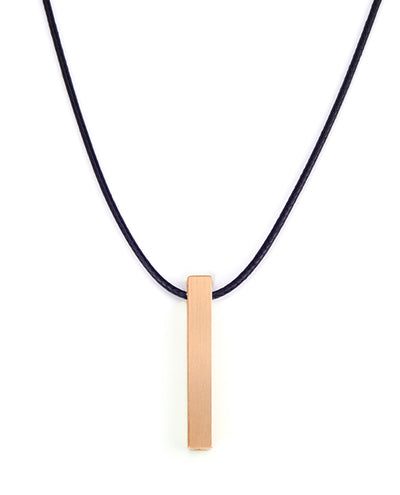 Vanacci mens element pendant in copper on a Black cord