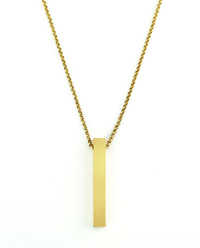 Vanacci mens element pendant in Gold on a stainless steel chain