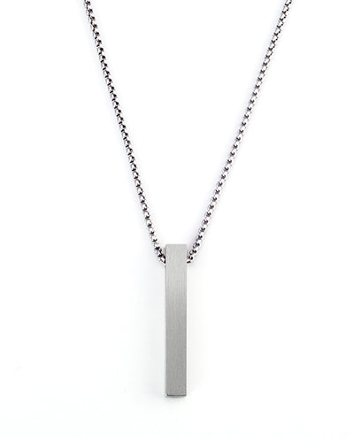 Vanacci mens element pendant in Iron on a stainless steel chain