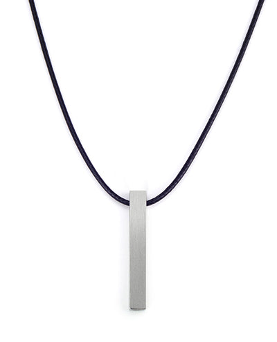 Vanacci mens element pendant in Aluminium on a black necklace