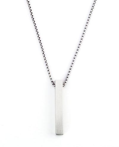 Vanacci mens element pendant in sterling silver on a stainless steel chain