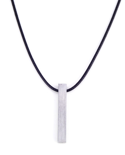 Vanacci mens element pendant in Tungsten on a Black Necklace