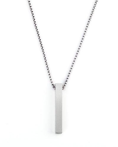 Vanacci mens element pendant in palladium on a stainless steel chain