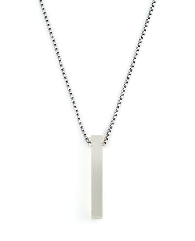 Vanacci mens element pendant in Rhodium on a stainless steel chain