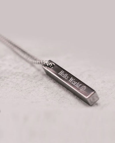 Vanacci mens element Titanium pendant with engraving