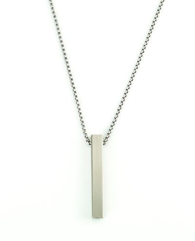 Vanacci mens element pendant in Titanium on a stainless steel chain
