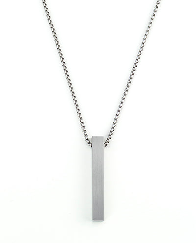 Vanacci mens element pendant in Molybdenum on a stainless steel chain