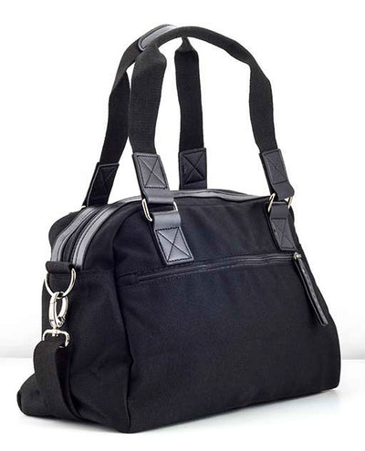 Vanacci canvas messenger bag in black