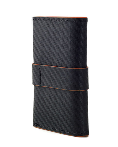 Vanacci pocket wallet in carbon with orange highlights.