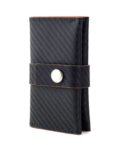Vanacci Pocket wallet with carbon leather and orange edges