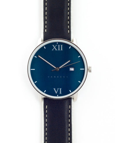 Vanacci Watch Midnight Front Face in dark blue