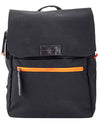 Vanacci canvas laptop backpack in black and orange