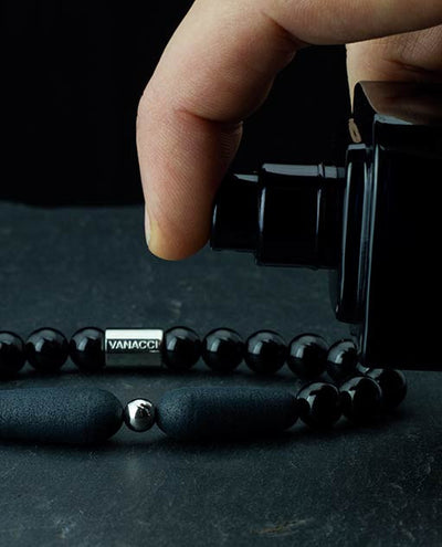 Vanacci One Range Black Pearl Bracelet personalise with fragrence