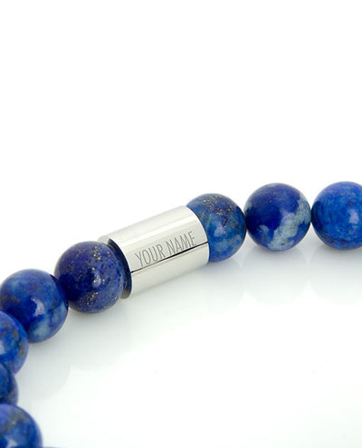 Vanacci Lockstone Lapis lazuli Perfume Bracelet with the planets of the solar system Engraved