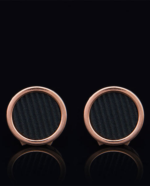 Lockstone One Range Copper Cufflinks - Vanacci  - 1