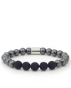 Vanacci Mens Hematite Bracelet with black and silver beads
